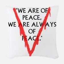 We are of PeaceLarge Woven Throw Pillow