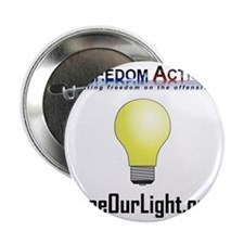 """Freedom Action Bulb Front 2.25"""" Button"""