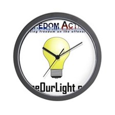 Freedom Action Bulb Front Wall Clock