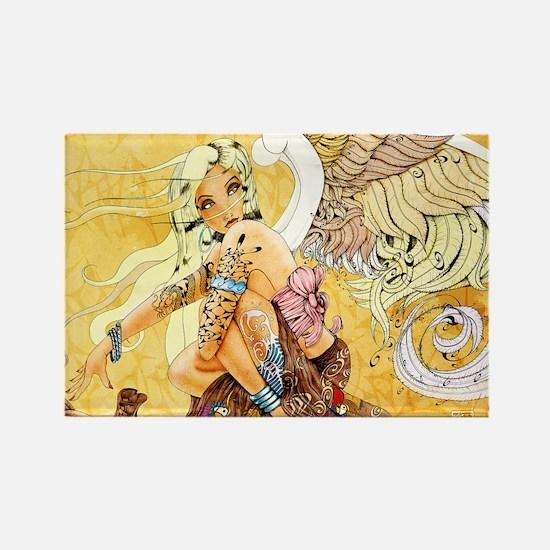 blondeangel11x17 Rectangle Magnet