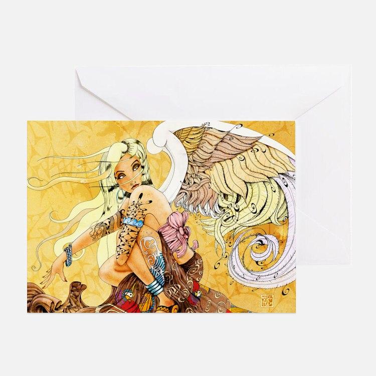 blondeangel11x17 Greeting Card