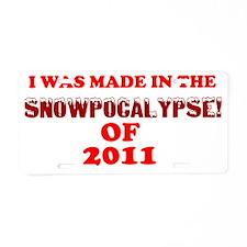 STLSNOW-MADE copy Aluminum License Plate
