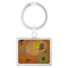 brown fat by Odra Noel Landscape Keychain