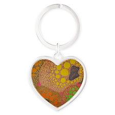 brown fat by Odra Noel Heart Keychain