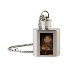 Queen - Red Maine Coon Flask Necklace