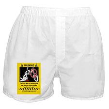 warning sticker motorcycle Boxer Shorts