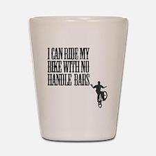 no handlebars t-shirt Shot Glass