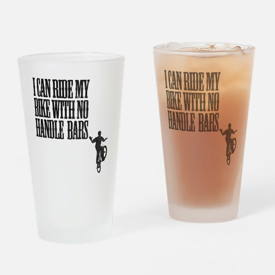 no handlebars t-shirt Drinking Glass