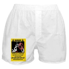 2-warning sticker motorcycle Boxer Shorts