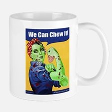 Zombie Rosie the Riveter We Can Chew It Mugs