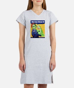 Zombie Rosie the Riveter We Can Chew It Women's Ni