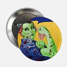 """Zombie Rosie the Riveter We Can Chew It 2.25"""" Butt"""