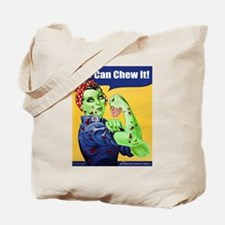 Zombie Rosie the Riveter We Can Chew It Tote Bag