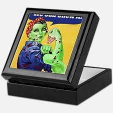 Zombie Rosie the Riveter We Can Chew It Keepsake B