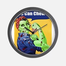 Zombie Rosie the Riveter We Can Chew It Wall Clock