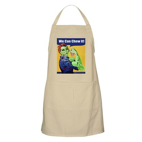 Zombie Rosie the Riveter We Can Chew It Apron