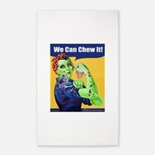 Zombie Rosie the Riveter We Can Chew It 3'x5' Area