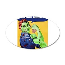 Zombie Rosie the Riveter We Can Chew It Wall Decal