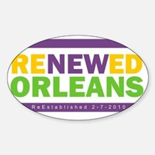 RenewedMardiGras Sticker (Oval)