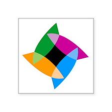 "IndigoLogo_large_dark Square Sticker 3"" x 3"""