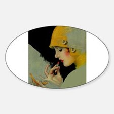 Art Deco Roaring 20s Flapper With Lipstick Decal