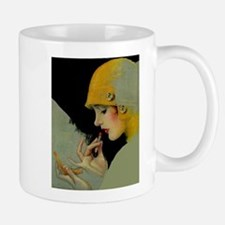 Art Deco Roaring 20s Flapper With Lipstick Mugs