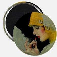 Art Deco Roaring 20s Flapper With Lipstick Magnets