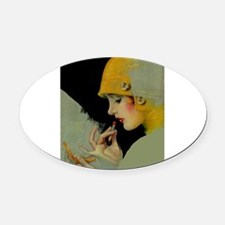 Art Deco Roaring 20s Flapper With Lipstick Oval Ca