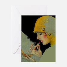 Art Deco Roaring 20s Flapper With Lipstick Greetin