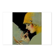 Art Deco Roaring 20s Flapper With Lipstick Postcar