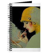 Art Deco Roaring 20s Flapper With Lipstick Journal