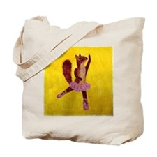 Ballet Squirrell Tote Bag
