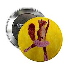 """Ballet Squirrell 2.25"""" Button"""