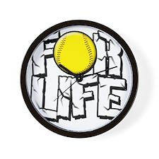 For Life Softball Wall Clock