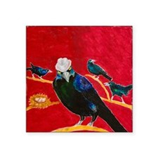 "Grackle Mafia Square Sticker 3"" x 3"""