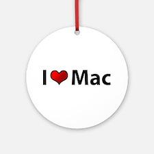 I love Mac Ornament (Round)