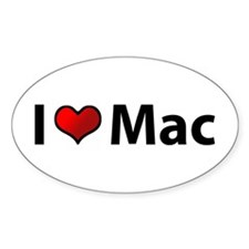 I love Mac Oval Decal