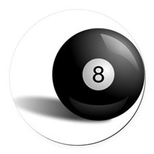 Pool Eight Ball Round Car Magnet
