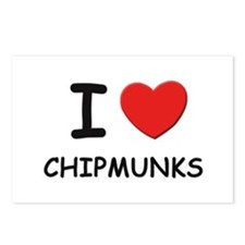 I love chipmunks Postcards (Package of 8)