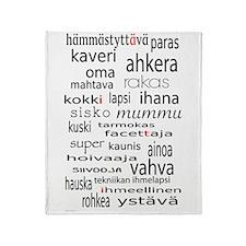 Aiti Mother In Finnish Throw Blanket