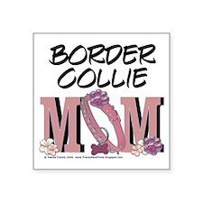 """BorderCollieMom Square Sticker 3"""" x 3"""""""