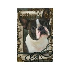 Stone_Paws_Boston_Terrier Rectangle Magnet