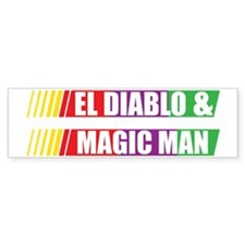 El Diablo and Magic Man Bumper Sticker