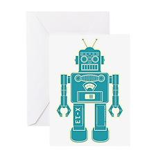 RobotBlackBrown Greeting Card