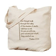Psalms23-4 Brown No Shadow Tote Bag
