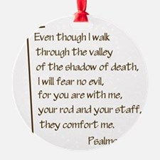 Psalms23-4 Brown No Shadow Ornament