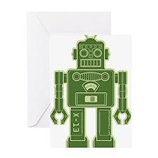 RobotKelGreen Greeting Card