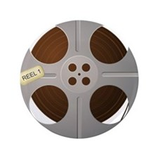 "Movie Reel 3.5"" Button (100 pack)"