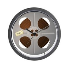 Movie Reel Wall Clock