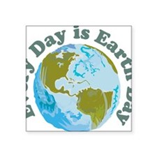 "Earth_Day Square Sticker 3"" x 3"""